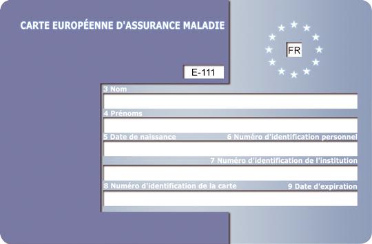 demande carte européenne d assurance maladie mgen Papiers à fournir